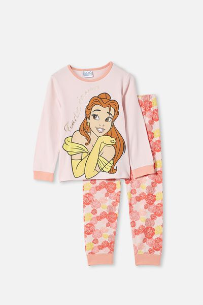 Florence Long Sleeve Pyjama Set, LCN DIS BELLE PINK QUARTZ
