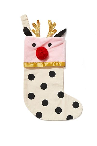 Kids Large Stocking, SPOT REINDEER