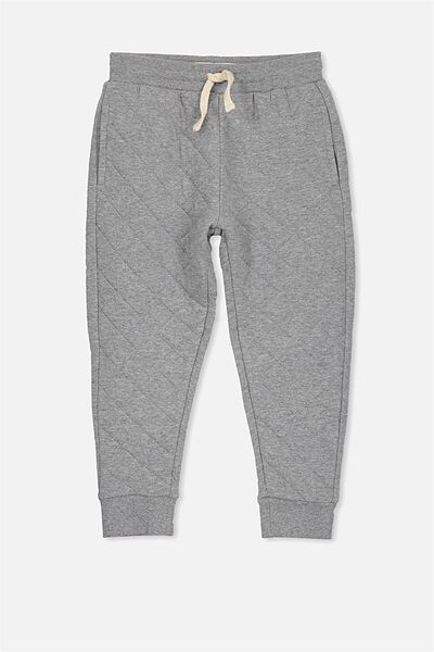 Lewis Trackpant, HAZE MARLE/QUILTED
