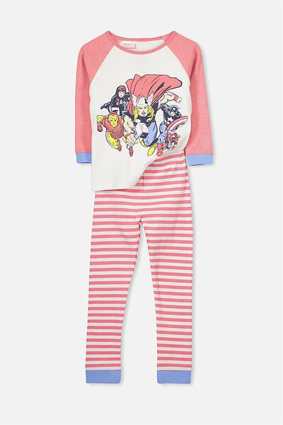 Jacob Boys Long Sleeve Raglan PJ Set, MARVEL 5 HEROES
