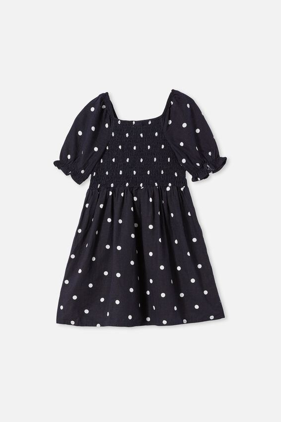 Lillie Short Sleeve Dress, INDIAN INK/SPOT