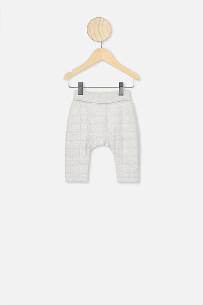 Rory Quilted Trackpant, CLOUD MARLE1