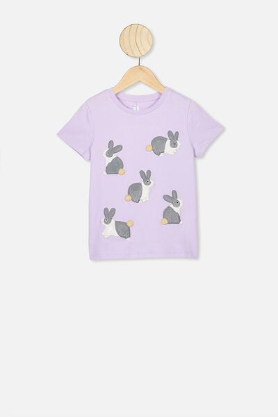 Stevie Ss Embellished Tee, VINTAGE LILAC/BUNCH OF BUNNIES