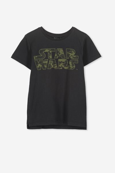 Short Sleeve License1 Tee, LCN LU VINTAGE BLACK/CAMO STAR WARS