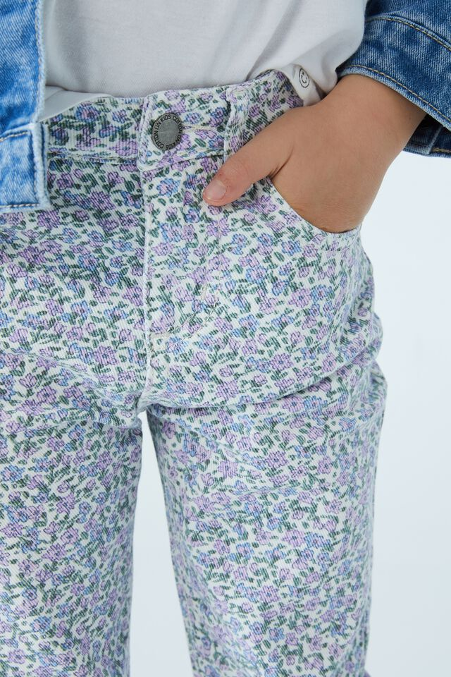 India Slouch Jean, VANILLA/BLUES TORQUAY FLORAL