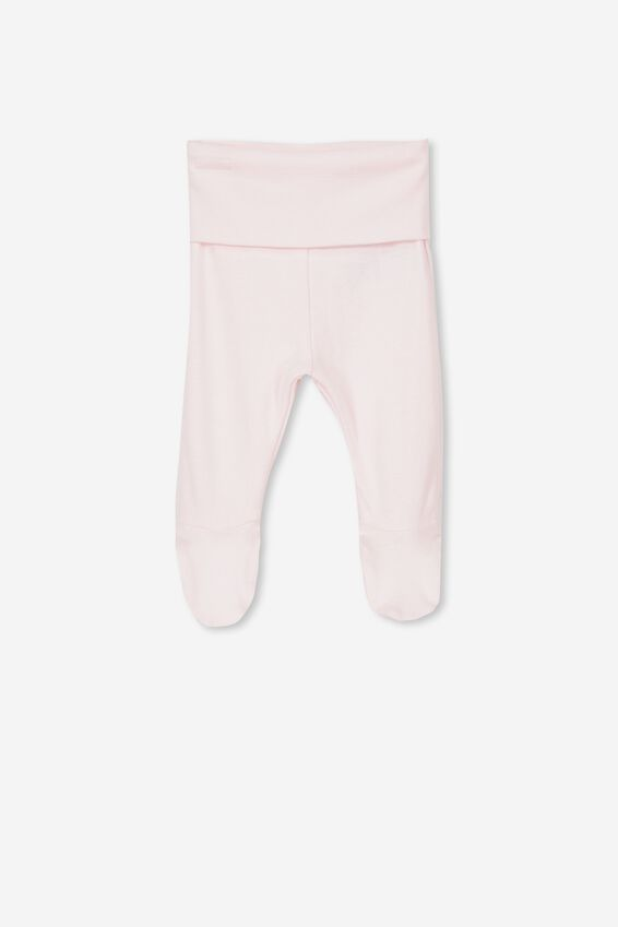 Newborn Footed Legging, ESSENTIAL PINK