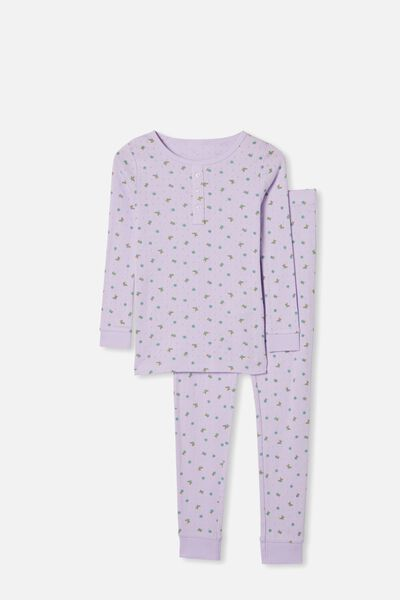 Cleo Long Sleeve Pyjama Set, VINTAGE LILAC FLORAL