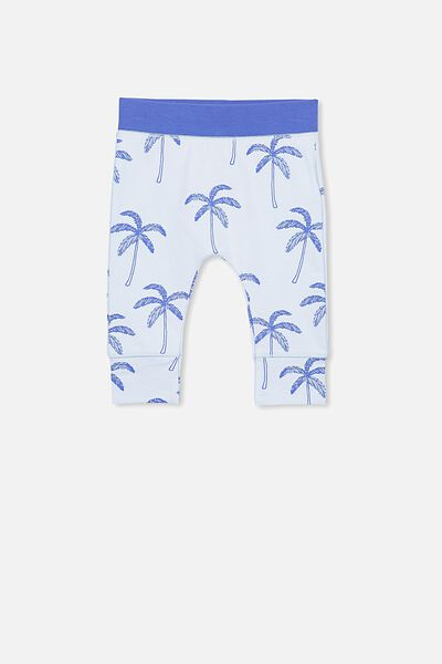 Mini Legging, ARCTIC BLUE/PALM TREES