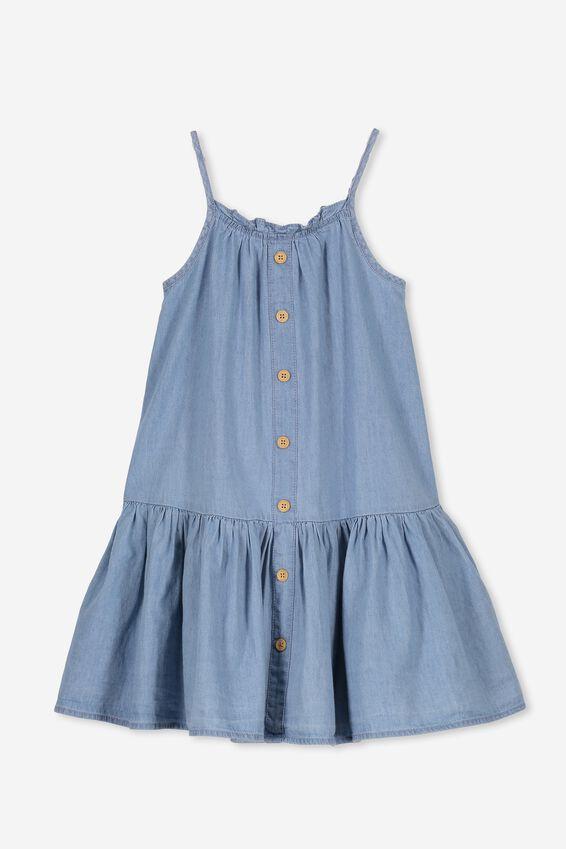 Lettie Dress, LIGHT WASH