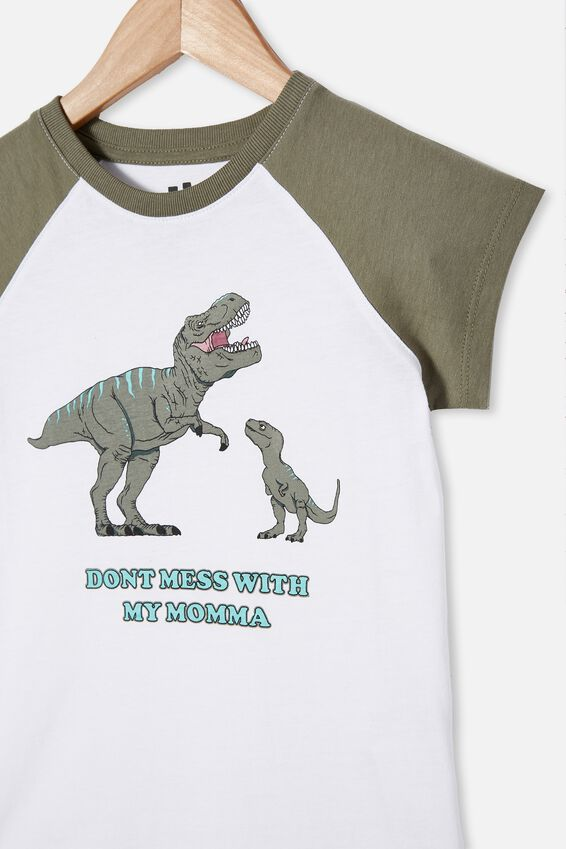 Max Short Sleeve Raglan Tee, SILVER SAGE/DONT MESS WITH MY MAMA