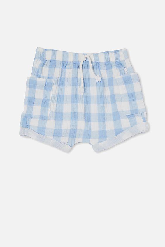 Jordan Shorts, DUSK BLUE/VANILLA MAXI GINGHAM