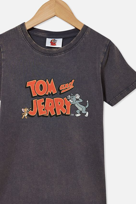 Short Sleeve License1 Tee, LCN WB VINTAGE NAVY/TOM & JERRY CATCH ME