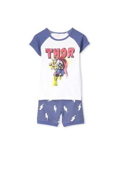 Boys Thor Short Sleeve PJ Set, THOR LIGHTNING BOLTS