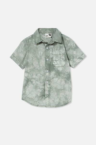 Resort Short Sleeve Shirt, SWAG GREEN/TIE DYE