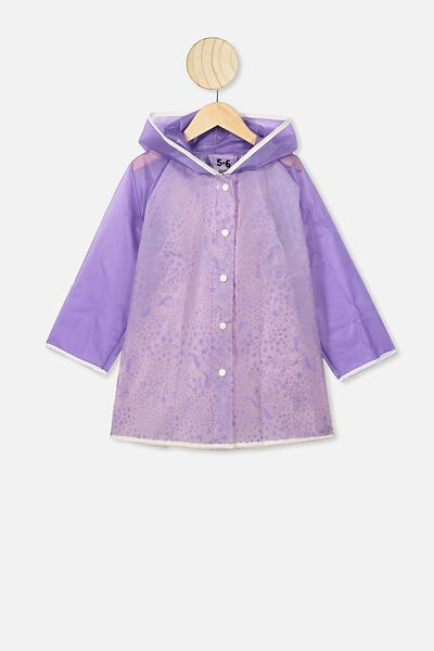 Cloudburst Raincoat, LILAC STARRY UNICORN