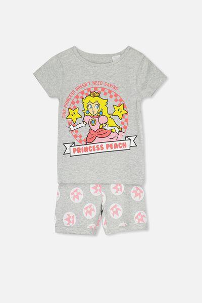 Chloe Girls Short Sleeve PJ Set, LCN PRINCESS PEACH