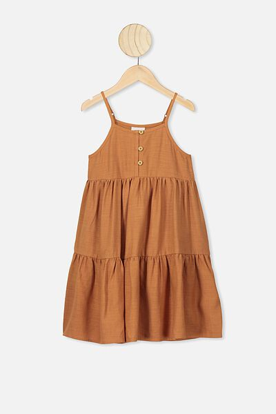 Mackenzie Sleeveless Dress, AMBER BROWN