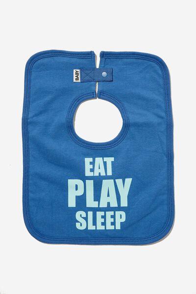 The Square Bib, PETTY BLUE/DREAM BLUE EAT PLAY SLEEP