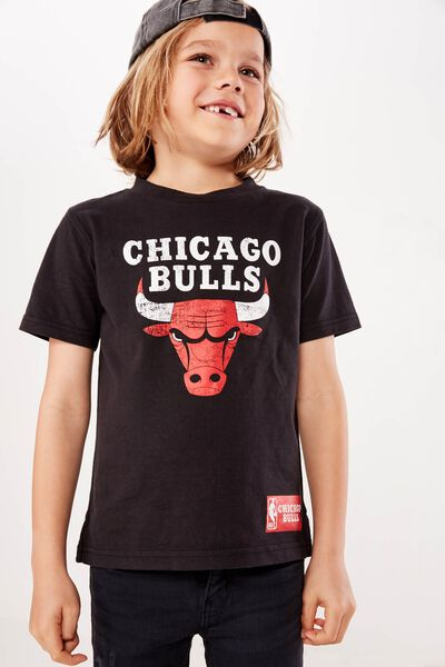 Co-Lab Short Sleeve Tee, BLACK/CHICAGO BULLS