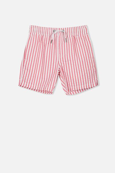 Murphy Swim Short, WHITE/WEAK RED YD STRIPE