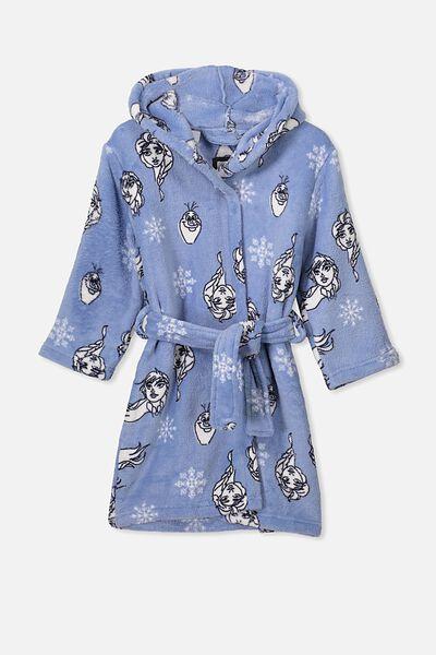 Girls Hooded Robe, LCN DIS FROZEN/BLUE