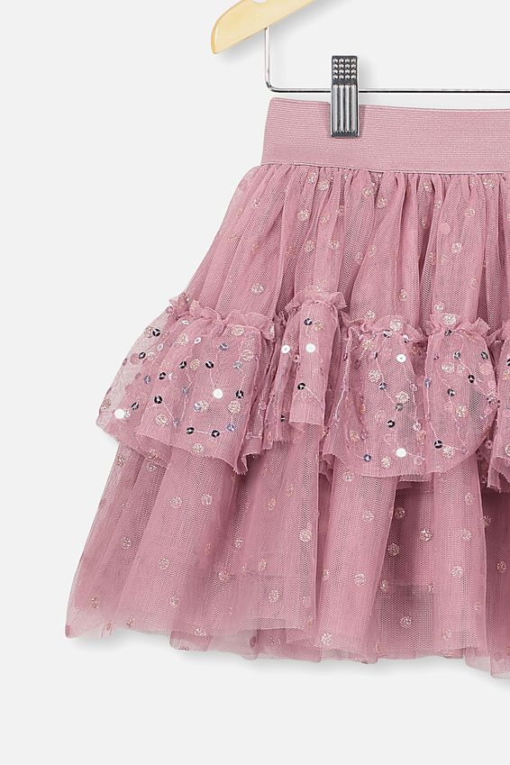 Trixiebelle Tulle Skirt, DUSTY BERRY/SPARKLE DOT