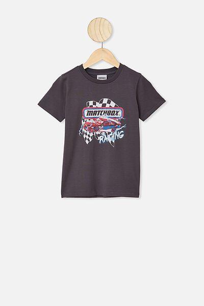Short Sleeve License1 Tee, LCN MAT RABBIT GREY / MATCHBOX RACING