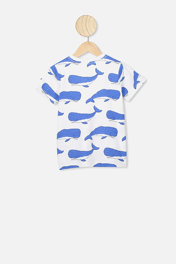 Max Short Sleeve Tee, WHITE/WHALES