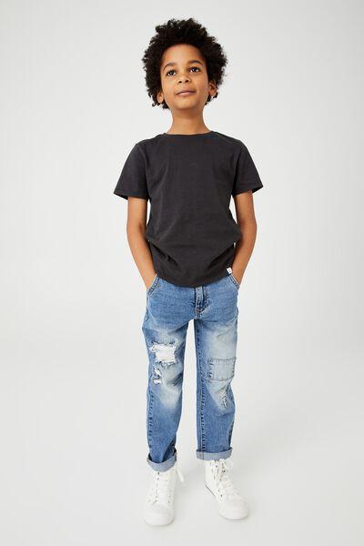 Straight Fit Jean, BONDI MID BLUE