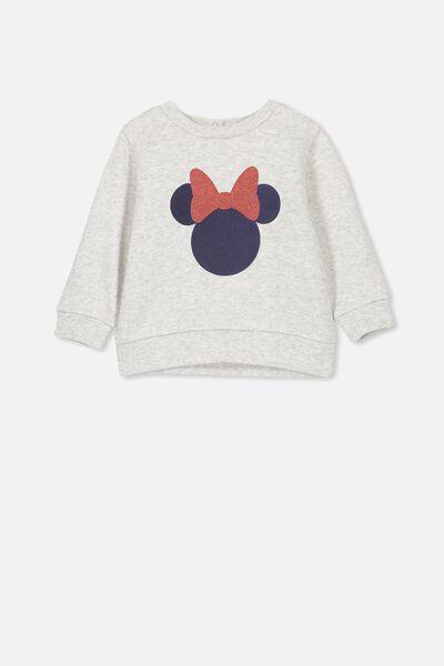 6e8c578c Billie Sweater, LCN DIS CLOUD MARLE/MINNIE MOUSE. Cotton On Kids