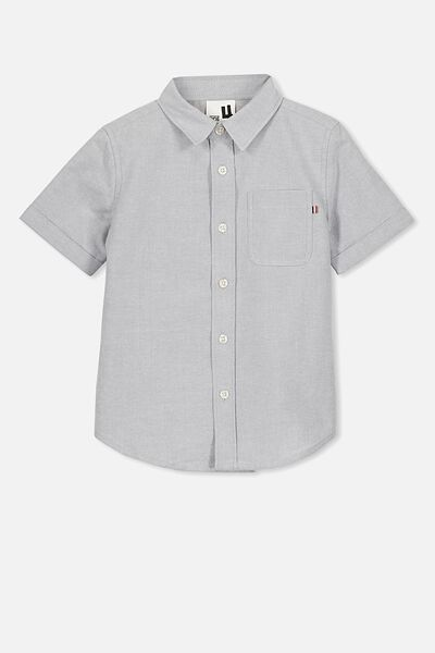 Resort Short Sleeve Shirt, LIGHT GREY WHITE