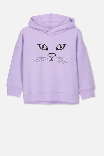 Scarlett Hoodie, BABY LILAC/CAT FACE/DROP