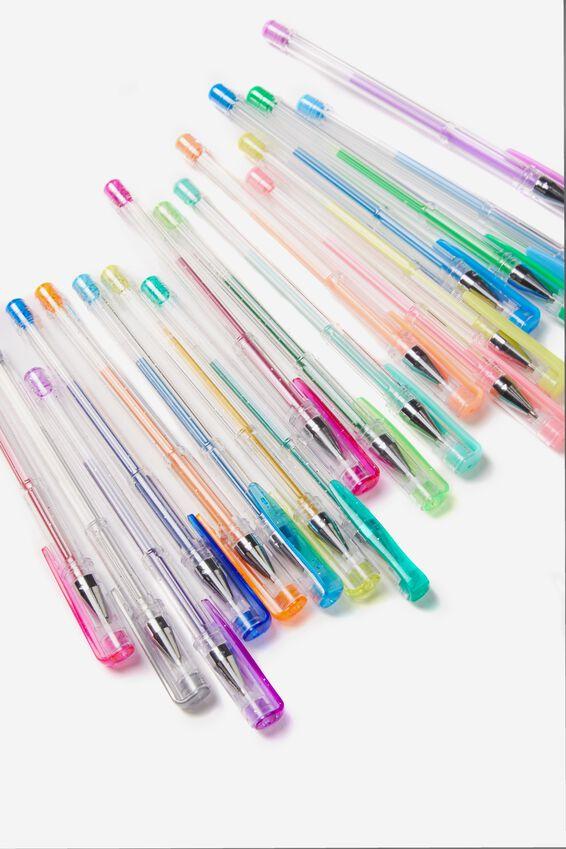 Sunny Buddy 24Pce Gel Pen Pack, COLOUR & NEON