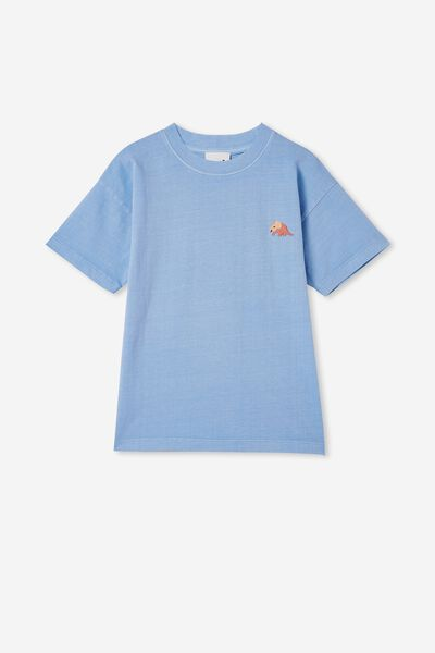 Scout Drop Shoulder Short Sleeve Tee, DUSK BLUE / DINO