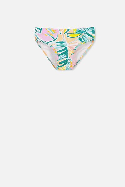 Pippa Bikini Bottom, PAINTERLY PALM YARDAGE