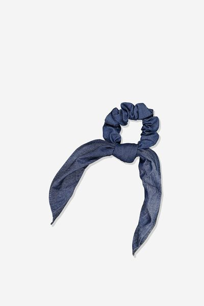 Scarf Scrunchie, CHAMBRAY