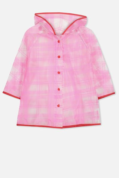 Cloudburst Raincoat, PINK CHECK