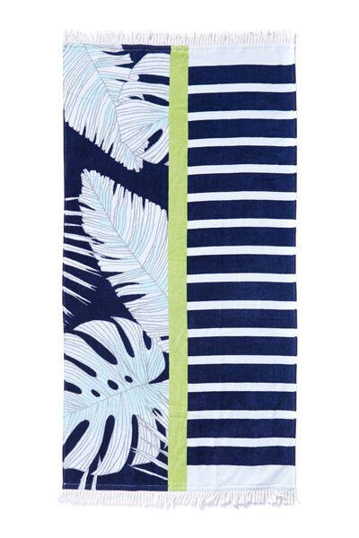 My Beach Towel, NAVY TROPICAL