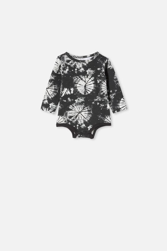 The Long Sleeve Bubbysuit, BLACK TIE DYE
