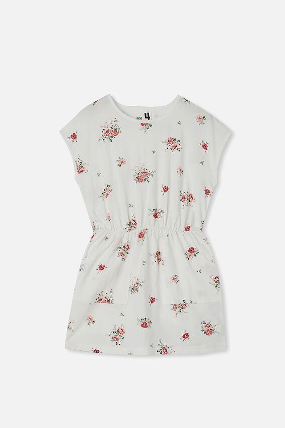 Sigrid Short Sleeve Dress, VANILLA/PRETTY DITSY
