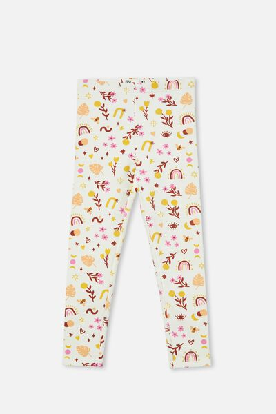 Fleece Legging, VANILLA/BOHO BEE