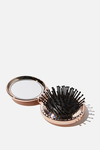 Compact Hair Brush, ROSEY GOLD