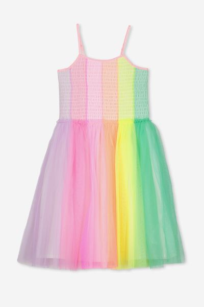 Iris Tulle Dress, RAINBOW PRINCESS