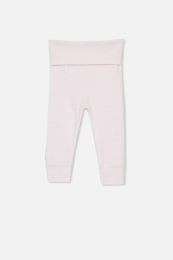 Newborn Essentials Legging, BABY PINK STRIPE