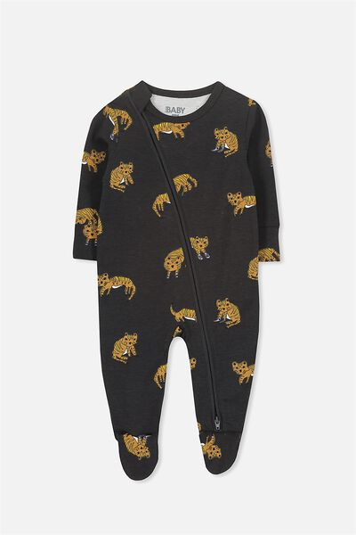 Sleep Mini Zip All In One Jumpsuit, PHANTOM/TIGER SNEAKERS