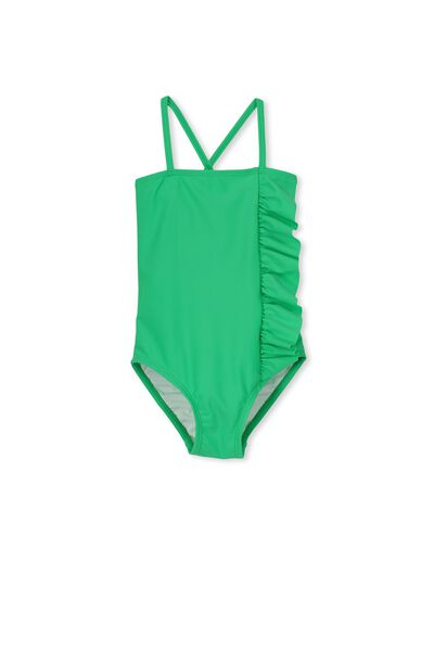 Rose Ruffle One Piece, SIMPLY GREEN