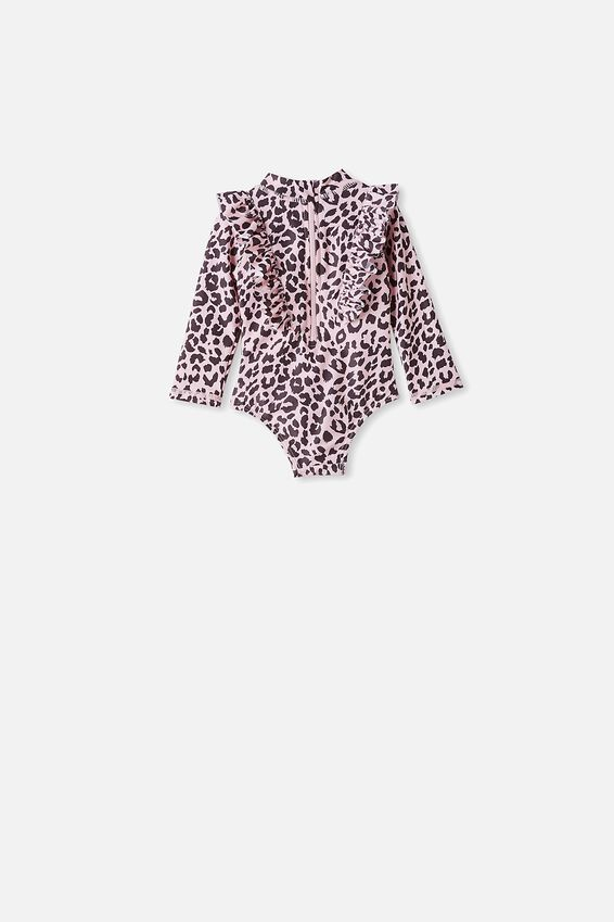 Tori Long Sleeve Swimsuit, PEARL PINK/SUMMER OCELOT