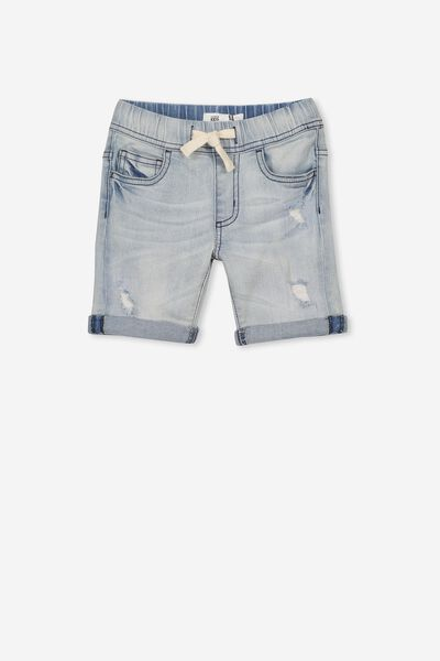 Flex Dnm Short, LIGHT WASH