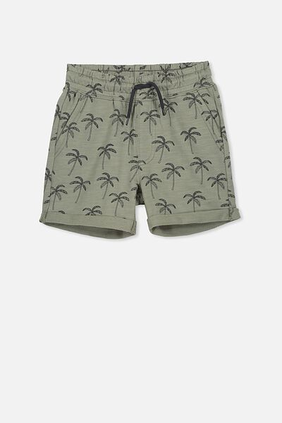 Henry Slouch Short, SILVER SAGE/PALM TREES