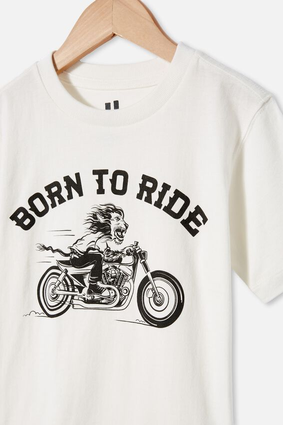 Max Skater Short Sleeve Tee, RETRO WHITE/ BORN TO RIDE